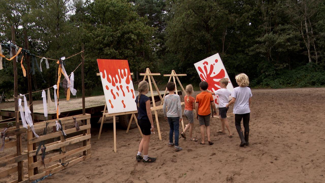Kinderen op zoek naar de verdwenen kleuren tijdens Jeugdweek Ravenstein