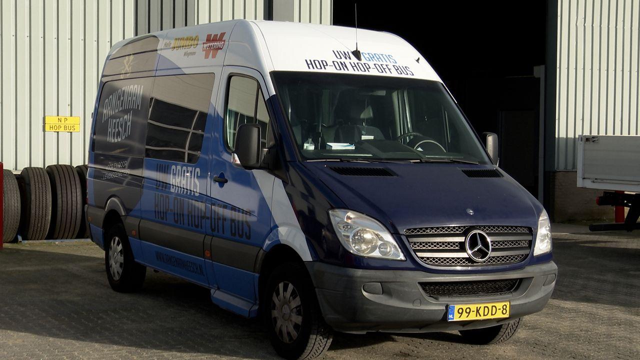 De hop-on hop-off bus is een aanwinst voor Heesch