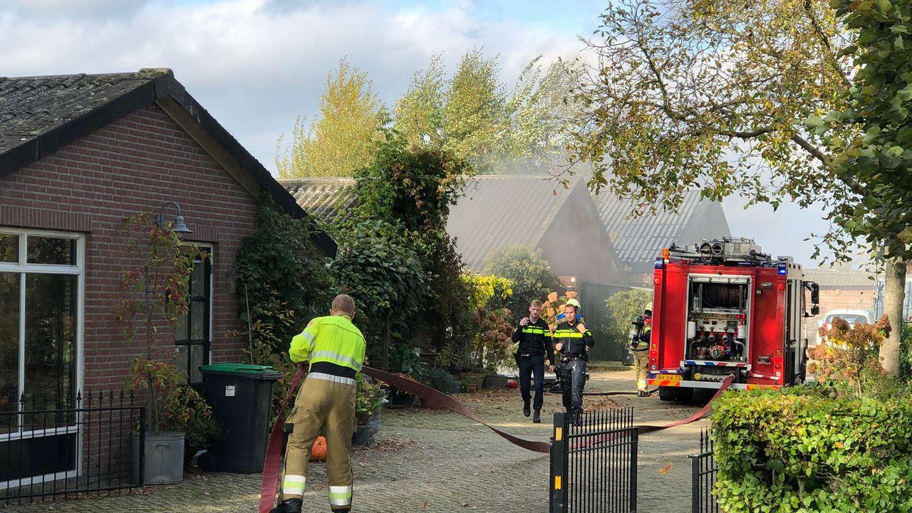 Brand op boerderij in Volkel snel geblust