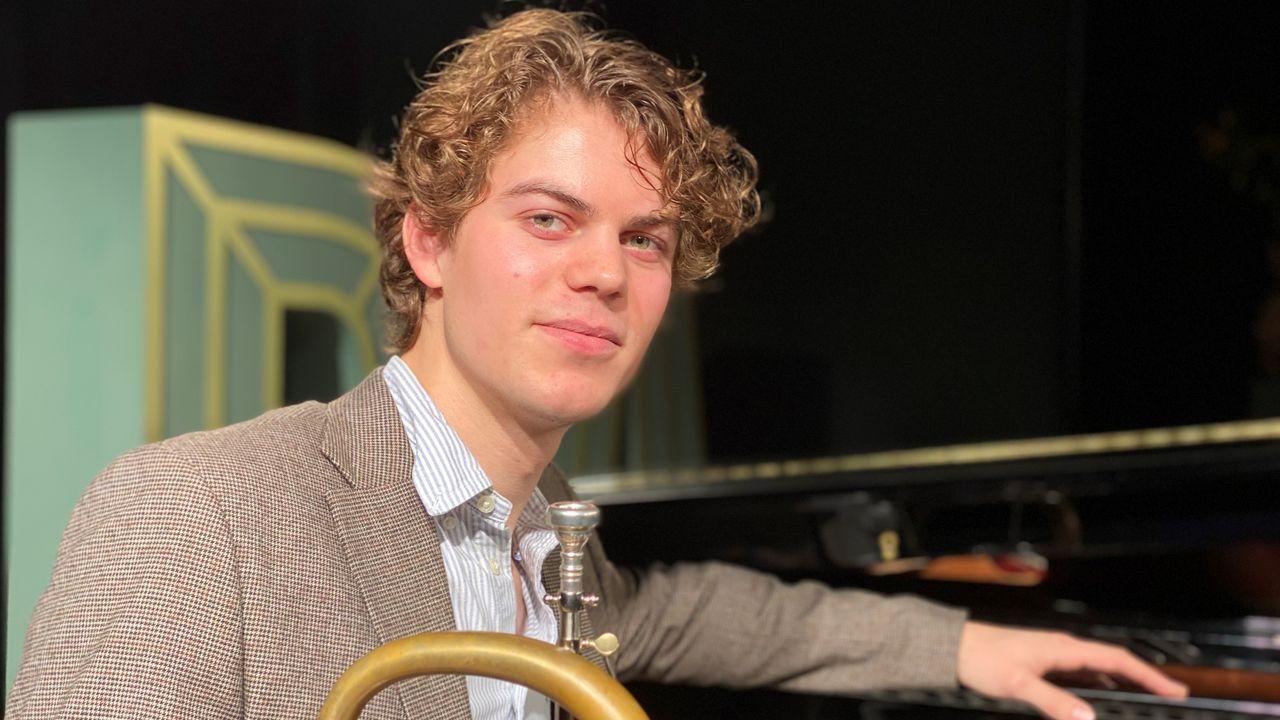 Droom voor Bram van de Glind (22) komt uit, spelen met het beste Jazzorkest van Nederland