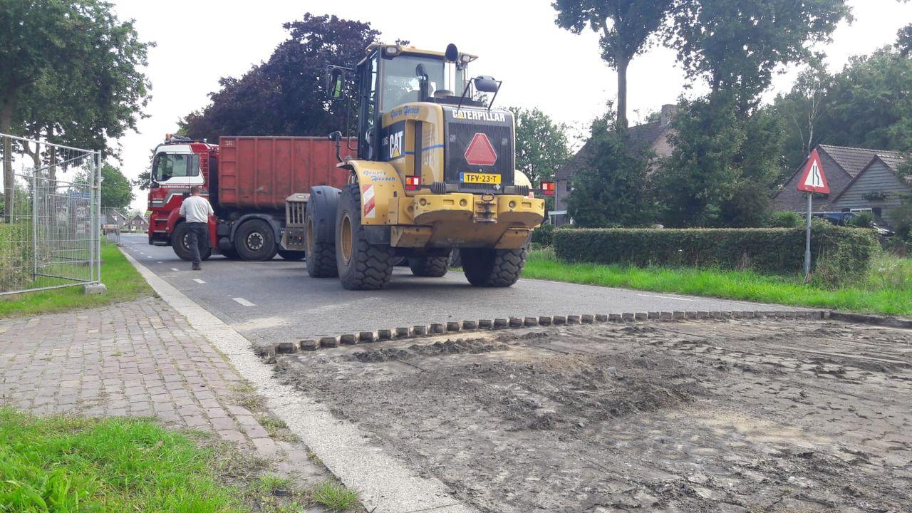 Werkzaamheden herinrichting hoofdweg in Heeswijk-Dinther gaan verder