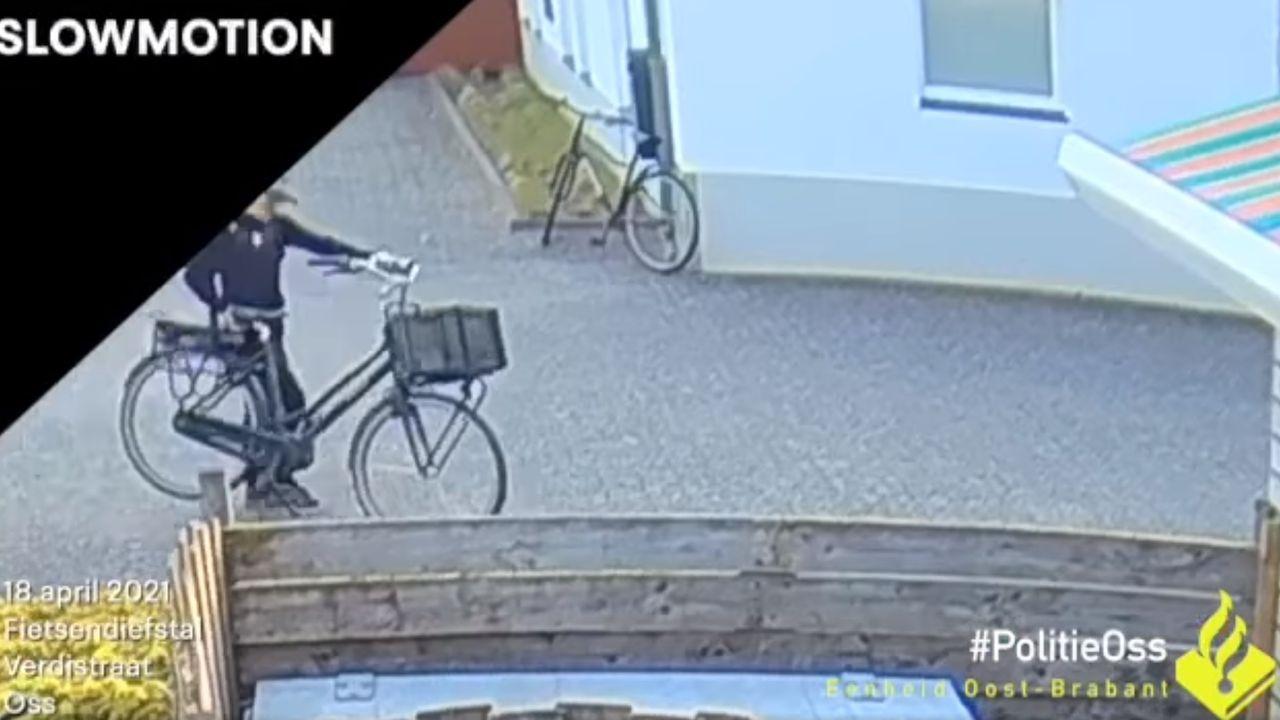 Politie deelt beelden van fietsendieven in Oss
