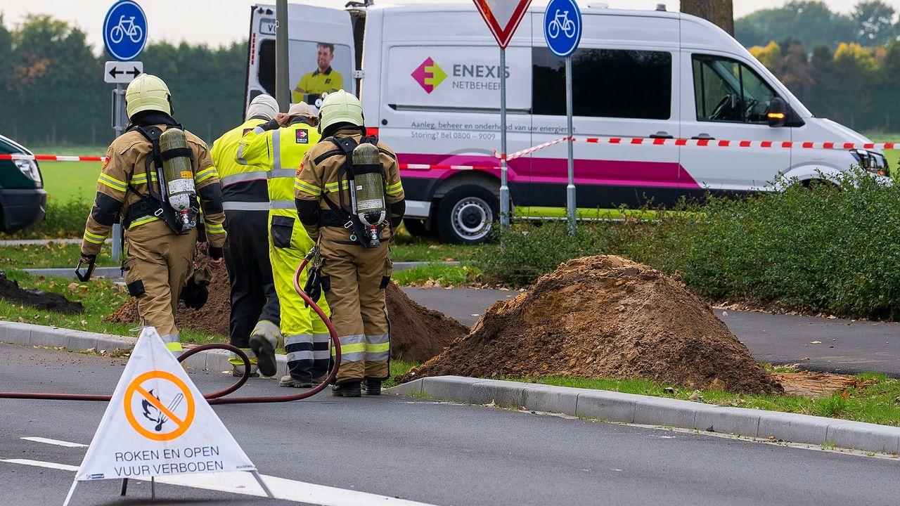 Kraanmachinist raakt gasleiding bij werkzaamheden in Oss