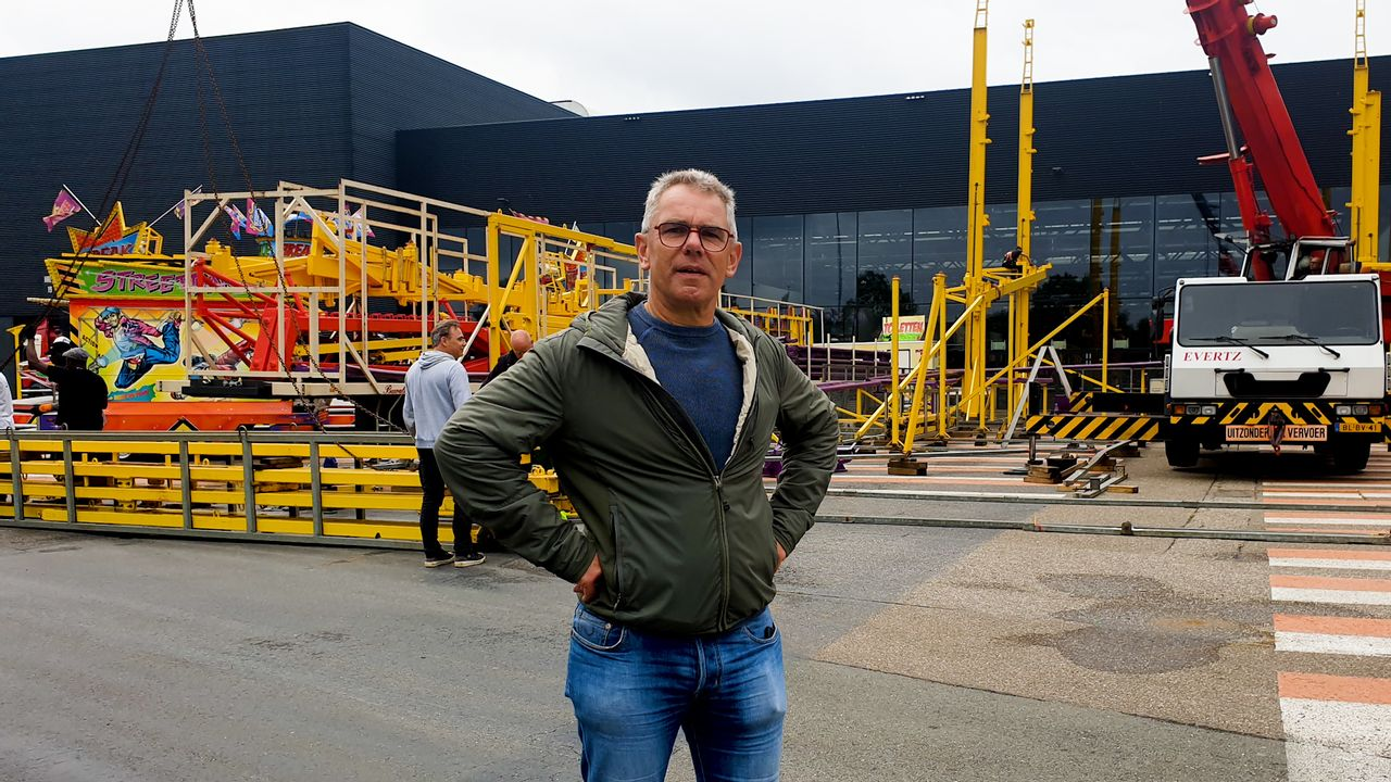 Het opbouwen van de Bossche kermis is voor kermismeester André net puzzelen voor gevorderden