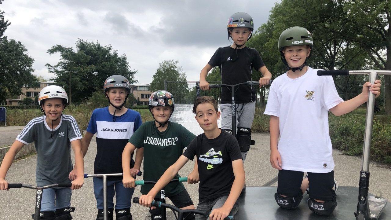 Jongeren uit de Overlaet in Rosmalen willen een nieuwe en veiliger skatebaan